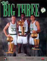 Larry Bird, Kevin Mchale and Robert Parish Big Three