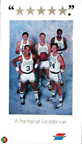Boston Celtics Starting Five, Larry Bird, Robert parish, Kevin McHale, Danny Ainge and Dennis Johnson