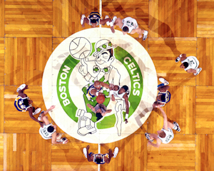 Celtics vs Lakers parquet Floor