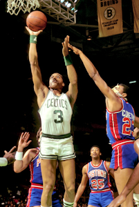 Boston Celtics Hall of Fame Inductee Dennis Johnson vs Detroit Pistons photo