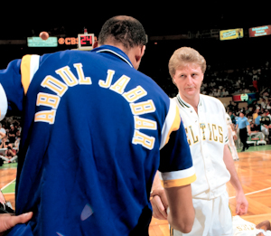 Larry Bird and kareem Abdul-Jabbar