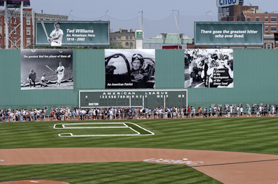 Boston Red Sox Tribute to ted Williams at fenway park photo